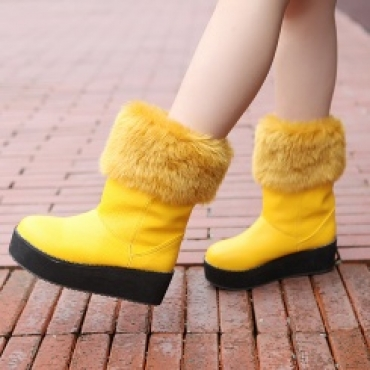 Plus size wholesale comfortable platform winter boots