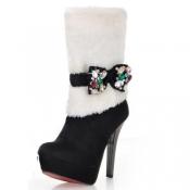 Fashion Winter-Spitzschuh Super High Stiletto Sli