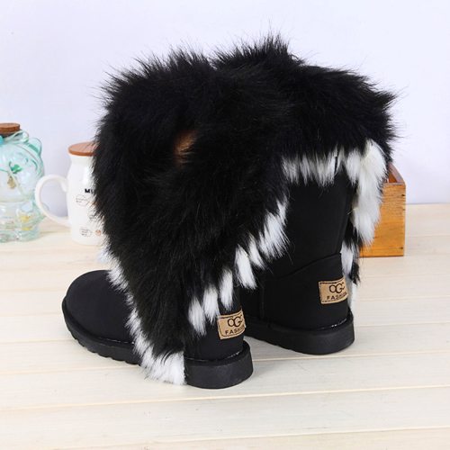 Perfect Bliss By Camellia Marie Winter Fad Sheepskin Boots Amp Furry Wedge