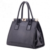 Fashion Solid Zipper Black PU Clutches Bag