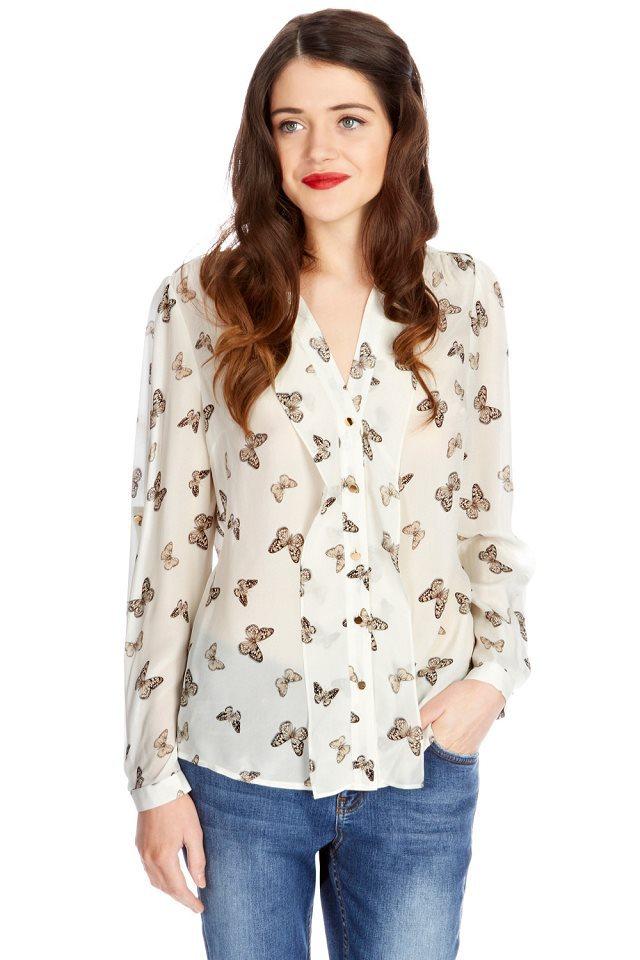 Блузка С Бабочками Купить