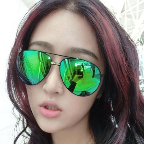 New Style Retro Black Green Sunglasses