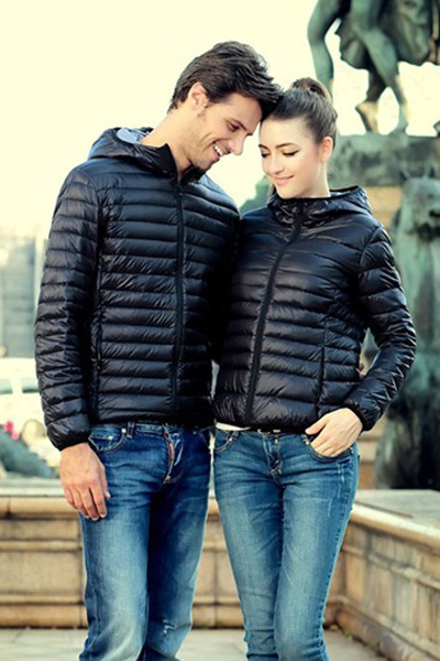 Cheap New Style Long Sleeves Zipper Design Black Regular Hooded Parka