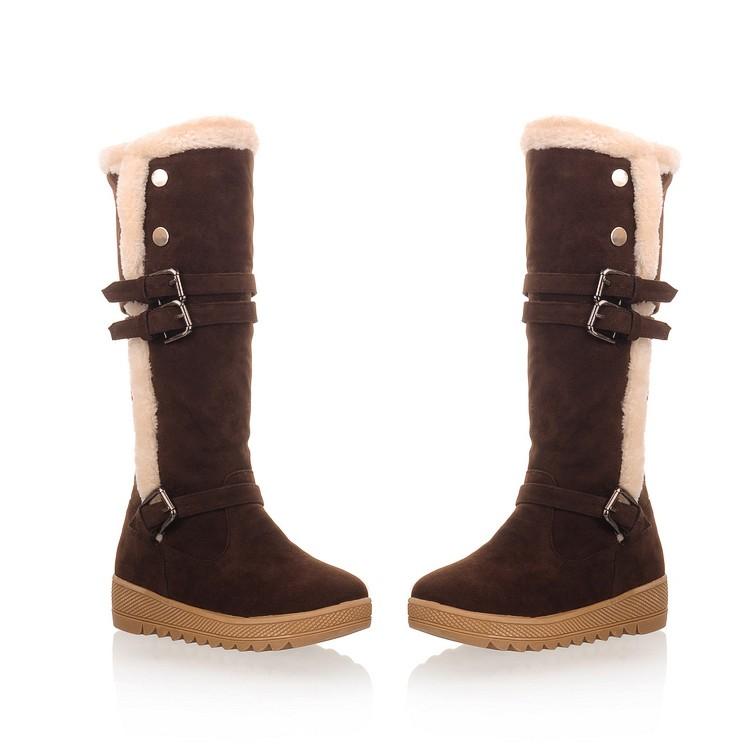 cheap winter fashion toe flat low heel buckle