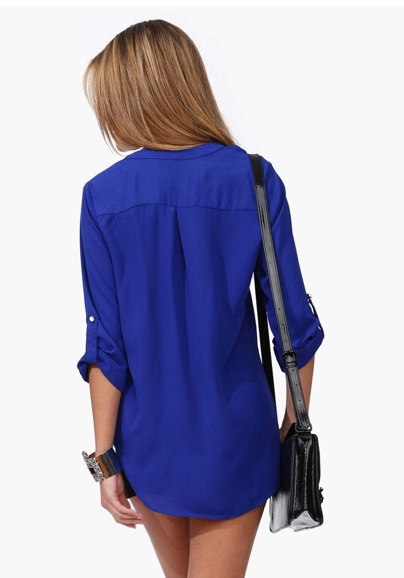 Cheap Royal Blue Blouse 71
