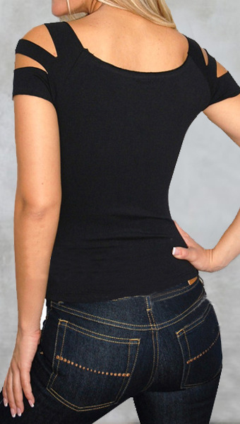 Cheap celebrity fashion o neck short sleeves broken holes for Celebrity t shirts wholesale