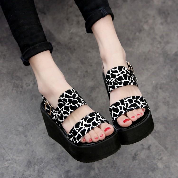 cheap fashion wedge high heel white pu ankle sandals