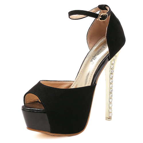 cheap fashion peep toe platform stiletto high heel