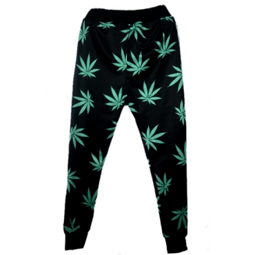 Blending Letter Drawstring Mid Regular Pants Pants/Capris
