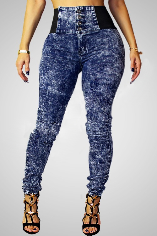 Women's Trendy High-Waisted Skinny Spliced Jeans For Women ...
