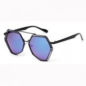 Trendy Big Frame Design Blue PC Sunglasses
