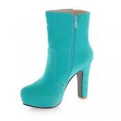 Frühling Herbst Round Toe Stiletto High Heel Zipper