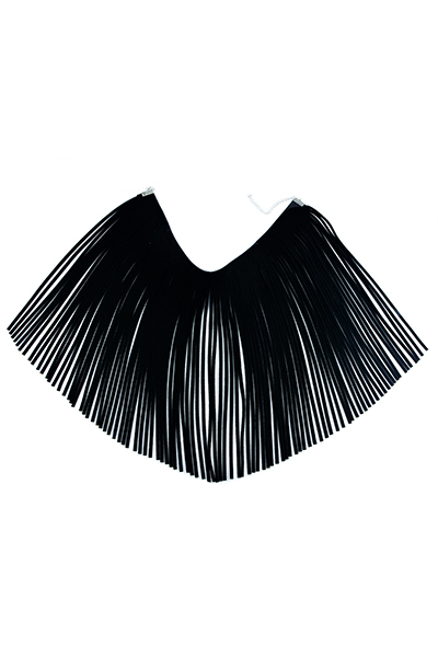 Fashion Tassel Design Black Flocking Necklace