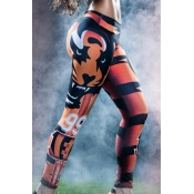 moda cintura alta de la impresión digital en 3D de la pierna de mezcla