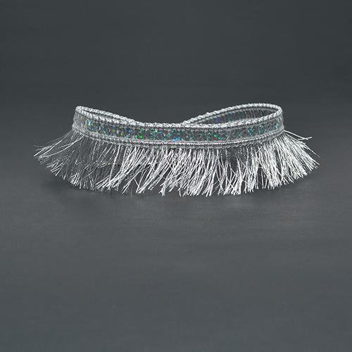 Euramerican Tassel Design Silver Bud Silk Choker