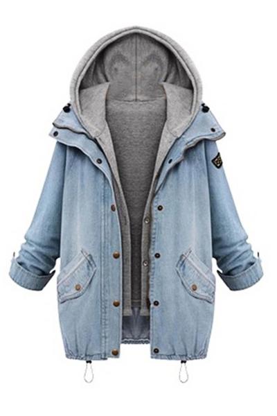 Ocio mangas largas cremallera dise o azul abrigo de for Disenos de chalecos