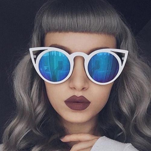 euramerican katze auge geformt hohle out blau pc sonnenbrille sunglasses accessories. Black Bedroom Furniture Sets. Home Design Ideas