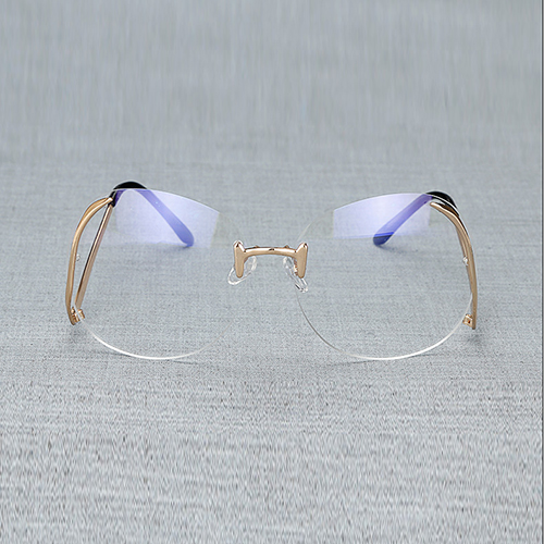 Stylish Rimless Blue PC Sunglasses