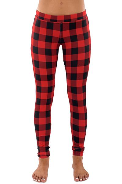 Pantalones cortos elegantes de la cintura imprimieron las polainas rojas del poliester