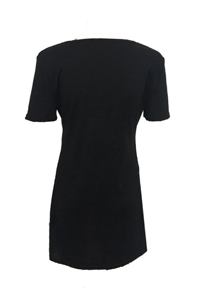 Хлопок моды O шеи Половина рукава мини платья