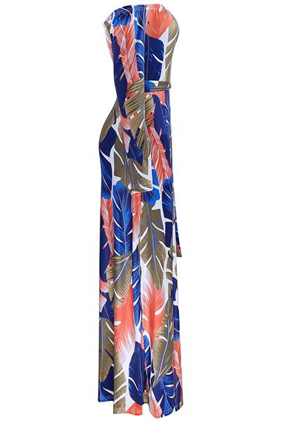 Qmilch вскользь Бато шеи длинным рукавом длины лодыжки платья
