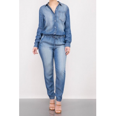 Polyester Solid Regular Jumpsuits