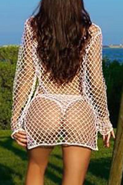 Сексуальные полые белые полиэфирные накладки (без подкладки)