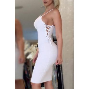 Сексуальная бретелька с длинным рукавом из белого волокна