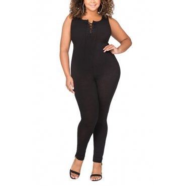 Cotton Solid Skinny Jumpsuits