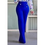 Elegante vita alta Doppiopetto Design Blu Pol