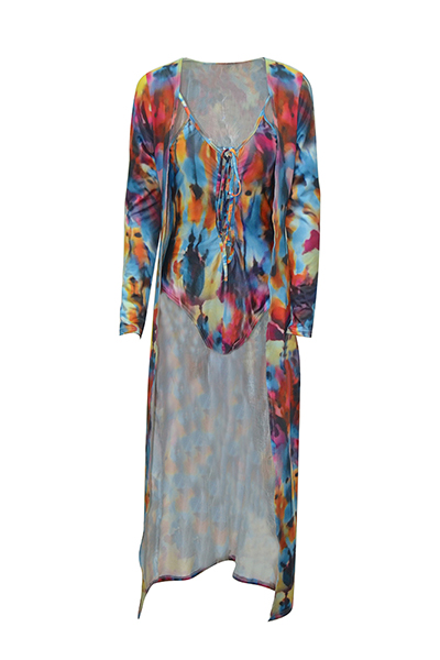 Polyester  Print One Pieces(With Cover-up)