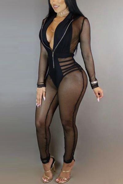 Сексуальная V-образная вышивка с длинными рукавами