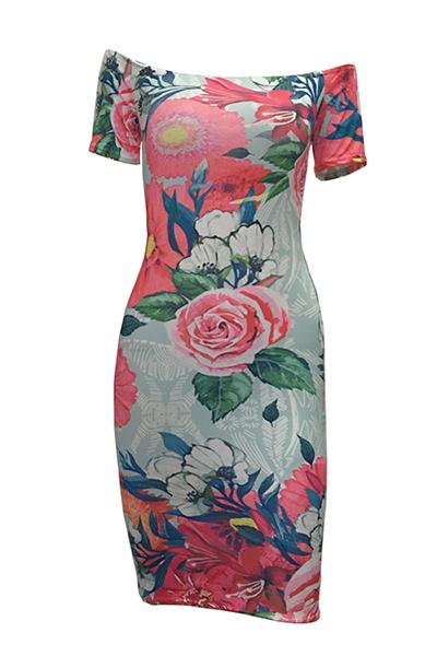 Мода плеча плеча с короткими рукавами