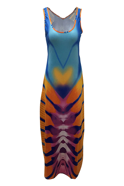 Qmilch Fashion U Neck Sleeveless A Line Dresses