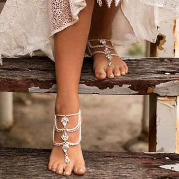 Fashion Rhinestone Decorative Silver Metal Body Chain(Only Sell A)