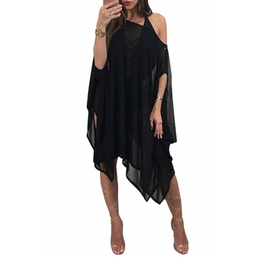 Sexy See-Through Black Polyester Cover-Ups(Without Swimsuit)