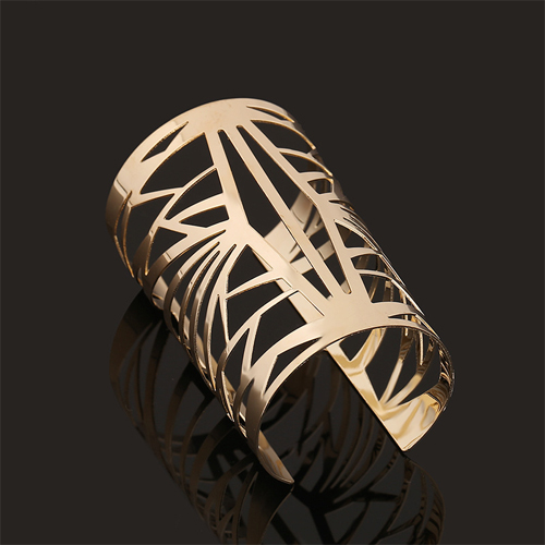 Fashion Hollow-out Gold Metal Bracelet (Only Sell A)