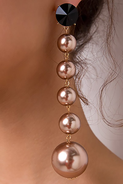 Fashion Gold Pearl Earring(Twain)